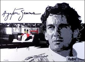 Ayrton Senna portrait